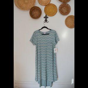 NWT LuLaRoe Teal Diamond Carly Dress